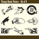 O vintage entrega vetores Foto de Stock Royalty Free