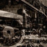 O vintage faz à máquina o fundo Ilustração do Vetor