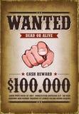 O vintage quis o cartaz ocidental Fotografia de Stock Royalty Free
