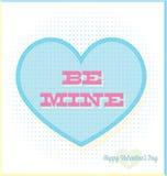 O vintage seja cartão do dia de Valentim da mina Foto de Stock Royalty Free