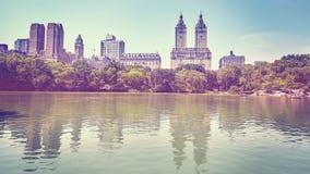 O vintage tonificou a foto do Central Park, New York Foto de Stock Royalty Free