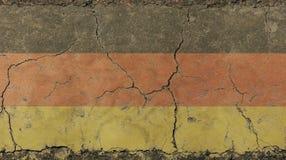 O vintage velho do grunge desvaneceu-se bandeira alemão da república ilustração do vetor