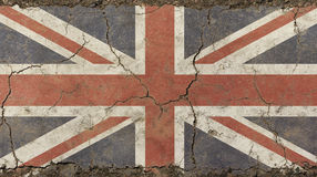 O vintage velho do grunge desvaneceu-se bandeira BRITÂNICA de Grâ Bretanha Foto de Stock Royalty Free