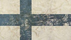 O vintage velho do grunge desvaneceu-se bandeira de Finlandia Fotografia de Stock Royalty Free