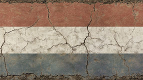 O vintage velho do grunge desvaneceu-se bandeira de Países Baixos Imagens de Stock