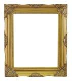 O vintage velho do ouro e do cobre do quadro isolou o fundo Imagem de Stock Royalty Free