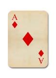 O vintage velho isolado aces o cartão Foto de Stock