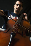 O Violoncellist Fotos de Stock