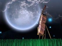 O violoncelo no sonho gosta da paisagem ilustração royalty free