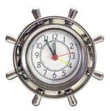 O volante do mar desde a hora é isolado no fundo branco Imagens de Stock Royalty Free