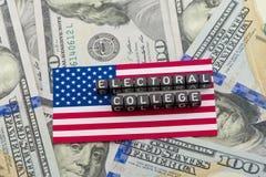 O voto do colégio eleitoral Imagem de Stock
