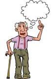 O vovô dos desenhos animados diz Imagens de Stock Royalty Free