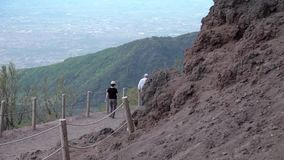 O vulcão o Vesúvio, Itália filme
