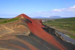 O vulcão Raudholar Foto de Stock Royalty Free