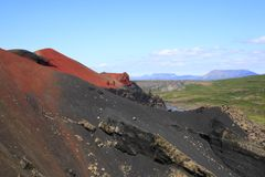 O vulcão Raudholar Imagens de Stock Royalty Free
