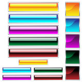 O Web abotoa cores assorted lustrosas Imagem de Stock Royalty Free