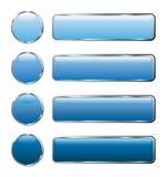 O Web azul abotoa-se por muito tempo Imagem de Stock Royalty Free