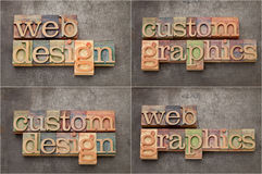 O Web e os gráficos projetam Imagem de Stock