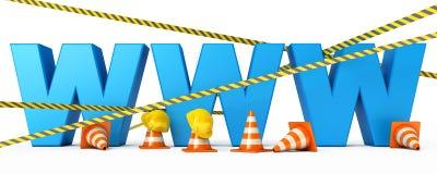 O Web page está sob a construção Imagens de Stock Royalty Free