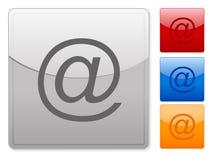 O Web quadrado abotoa o email Fotos de Stock