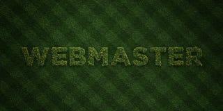O WEBMASTER - letras frescas da grama com flores e dentes-de-leão - 3D rendeu a imagem conservada em estoque livre dos direitos ilustração do vetor