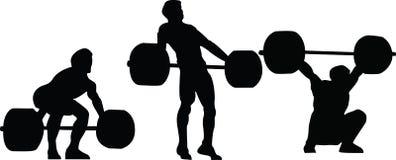 O Weightlifter da ilustração do vetor no ato de agarrar Foto de Stock Royalty Free