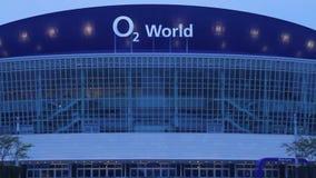 O2 Wereldarena Berlijn stock video