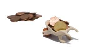 O Wheelbarrow carreg o dinheiro Imagens de Stock