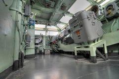 O wheelhouse de um navio de guerra intrépido Imagem de Stock Royalty Free