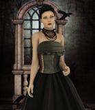 O whisperer do corvo Fotografia de Stock Royalty Free