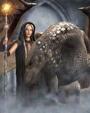 O whisperer do dragão Fotografia de Stock Royalty Free