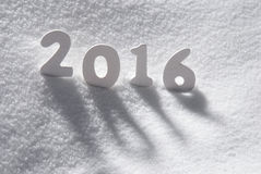 O White Christmas exprime 2016 na neve Imagens de Stock Royalty Free
