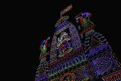 Oświetleniowa dekoracja, Ganesh festiwal, Pune, India fotografia royalty free