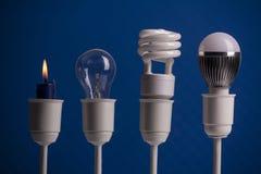 Oświetleniowa ewolucja Zdjęcie Stock