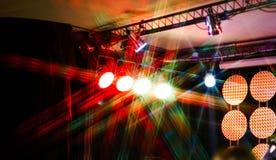 Oświetleniowy zestaw dla musicalu koncerta Fotografia Stock