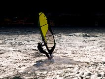 O windsurfer imagens de stock