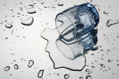 O wine-glass virado Imagens de Stock