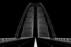 o wireframe 3d rende de uma ponte Foto de Stock Royalty Free