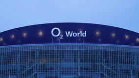 O2 World arena Berlin stock video footage