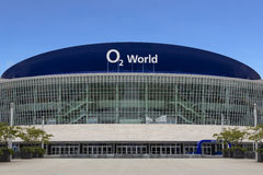 O2 World Arena facade on May 21, 2015 in Berlin, Germany. Stock Images