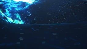O wormhole cósmico, conceito da viagem espacial, funil-deu forma ao túnel que pode conectar um universo com o outro animação 3D ilustração royalty free