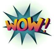 O wow coloriu a ilustração do vetor da banda desenhada Imagens de Stock