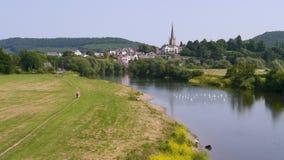 O Wye do rio em Ross On Wye fotos de stock
