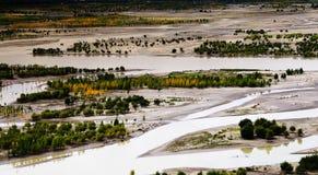 O Yarlung Zangbo River Foto de Stock Royalty Free