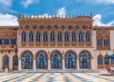 O ` Zan da mansão Ca d do ` s de Ringling modelou após o palácio dos doges na VE foto de stock
