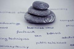 O zen e relaxa no ambiente empresarial Imagens de Stock Royalty Free