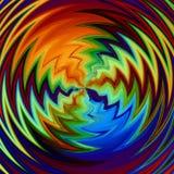 O ziguezague modela cores radiais ilustração stock