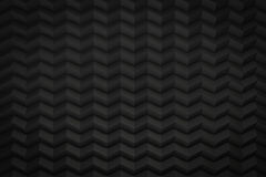 O ziguezague preto considerou que o fundo com cópia para espaçar 3d rende Fotografia de Stock Royalty Free