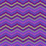 O ziguezague roxo listra o teste padrão ilustração stock