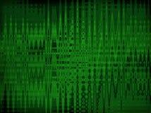 O ziguezague transfigurando verde alinha em um fundo escuro Fotos de Stock Royalty Free
